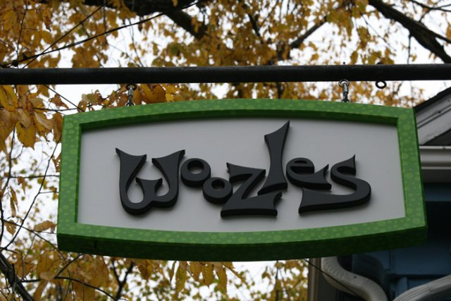 Woozles 3' x 4' PVC with raised frame and text.