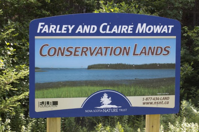 Nova Scotia Nature Trust 6' x 4' aluminum panel with custom mixed paint with print and vinyl application.