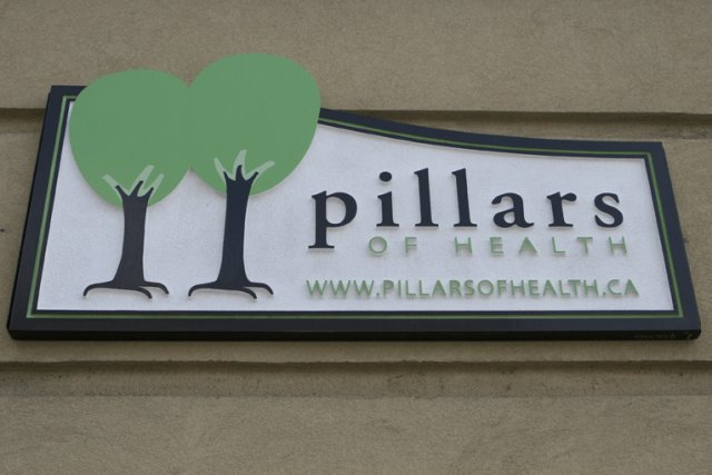 Pillars of Health Single sided 4' x 2' HDU sandblast.